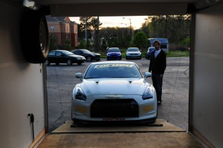 Loading up the GT-R