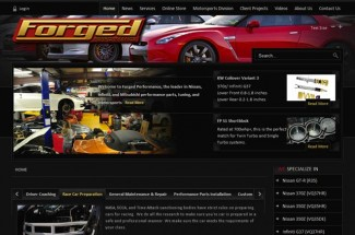 Forged Performance New Website