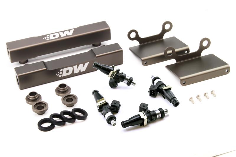 Deatschwerks Side Feed To Top Feed Kit w/ 1500cc Injectors Subaru STi 2004-07