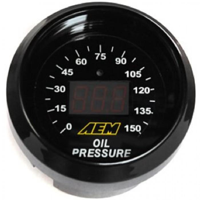 AEM Oil Pressure Gauge Digital 0-150psi 52mm