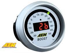AEM Boost Gauge 50psi Digital 52mm