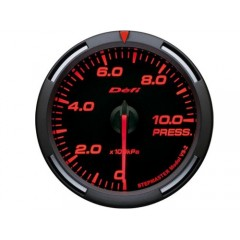 Defi Red Racer Pressure Gauge Metric 52mm 1000 kPa