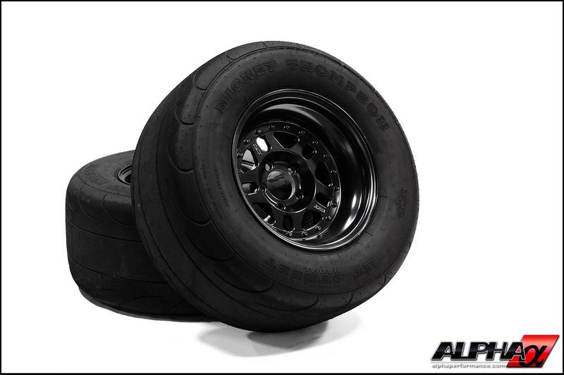 "AMS Alpha 15"" Drag Wheel & Radial Package Nissan GT-R 2009-17"