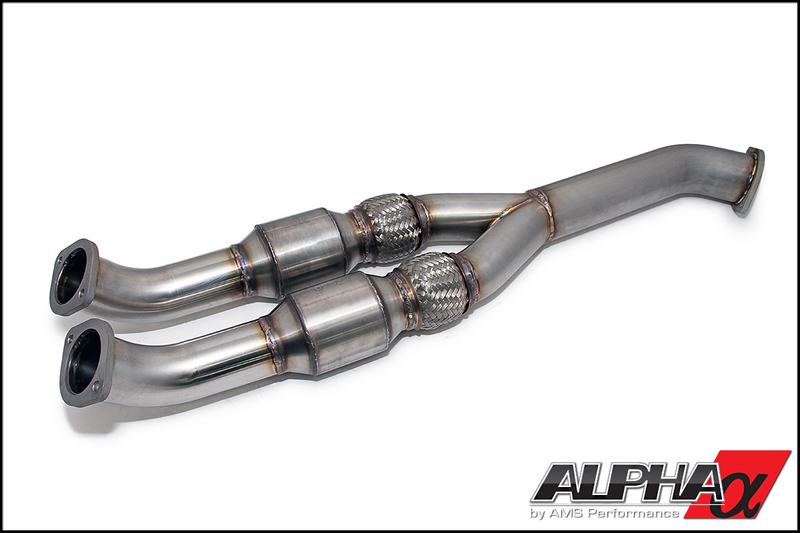 AMS Alpha 90mm Catted Midpipe R35 GT-R 2009-17