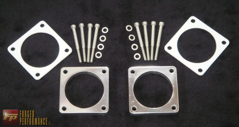 SSP Polished Aluminum Throttle Body Spacer Kit Nissan GT-R 2009-17