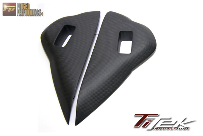 TiTek Matte Carbon Fiber Dash Vent Side Covers Nissan GT-R 2009-16