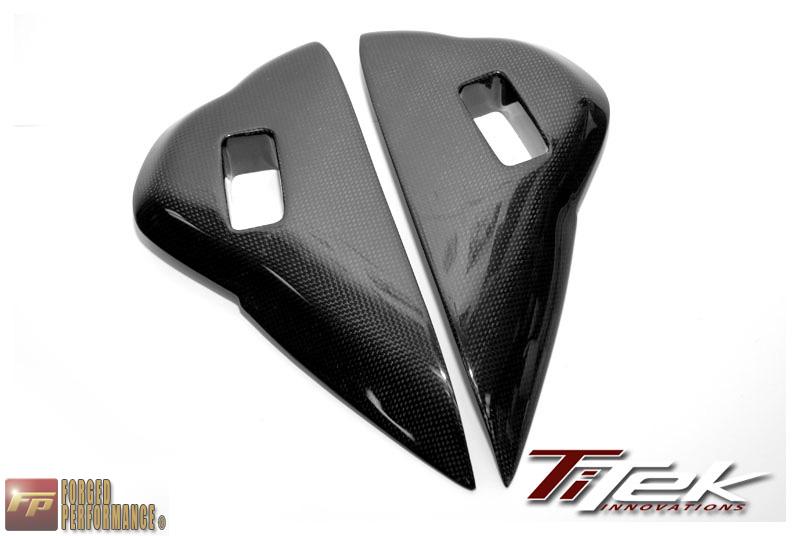 TiTek Carbon Fiber Dash Vent Side Covers Nissan GT-R 2009-16