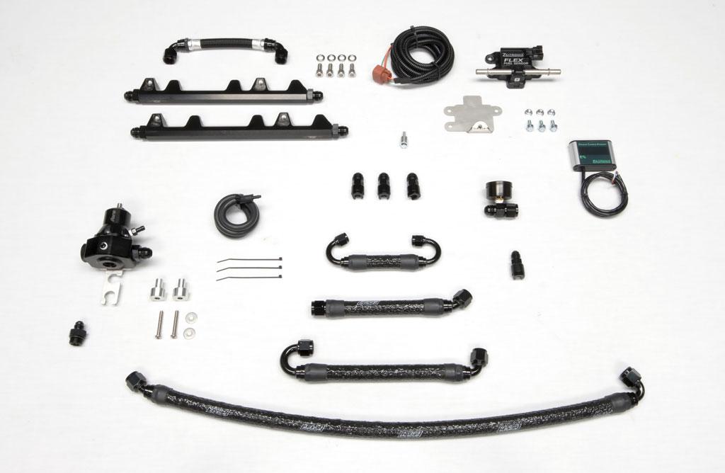 GT1R Fuel Line/Flex Fuel Kit  - 8AN