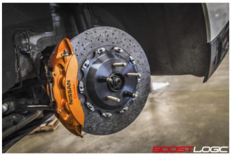 Boost Logic Front Carbon Ceramic Brake Street/Strip Kit - Nissan GT-R 2009 - 2018