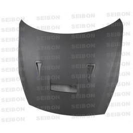 Seibon VSII-style DRY CARBON hood for 2009-2016 Nissan GTR.