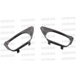 Seibon Carbon fiber exhaust outlet surround for 2009-2010 Nissan GTR