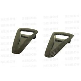 Seibon OEM-style carbon fiber air duct for 2009-2012 Nissan GTR