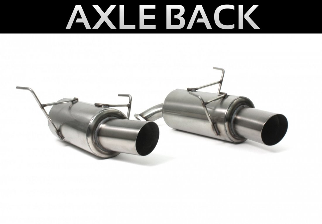 Perrin Axle-Back Exhaust - Sedan - Subaru WRX 2008-14 & STi 2011-14