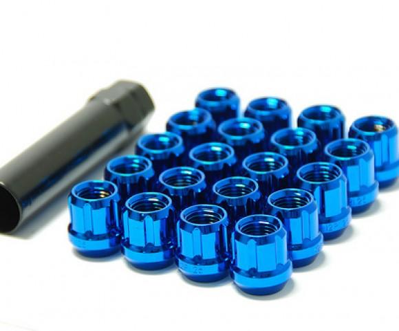 Muteki Classic Lug Nuts Short Open End - Blue -