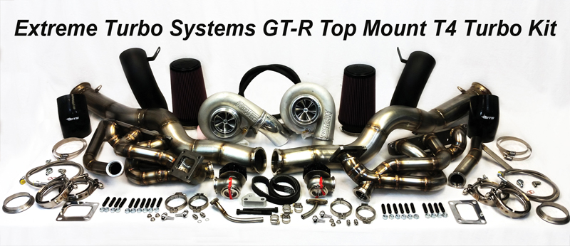 ETS Nissan R35 GTR Top Mount T4 Turbo Kit