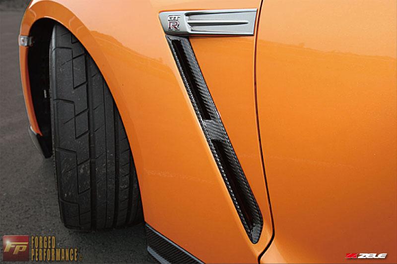 Zele Carbon Fiber Front Fender Vent Set Nissan GT-R 2009-16