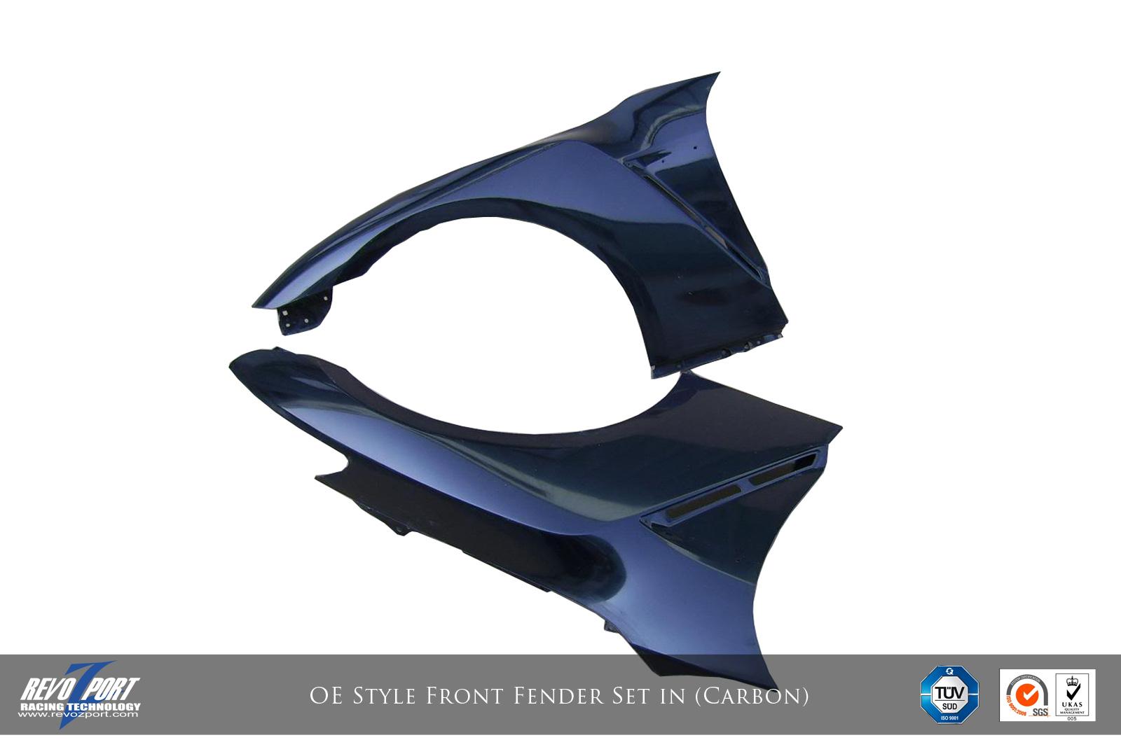 Revozport OE Style Carbon Fiber Front Fender Set Nissan GTR 2009-16