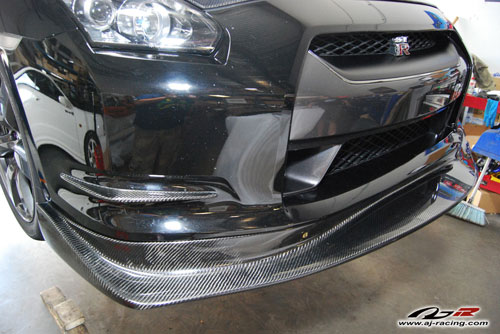 AJRC Carbon Fiber Type-A Front Lip Nissan GT-R 2009-16