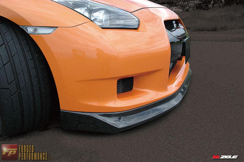 Zele Carbon Fiber Front Lip Nissan GT-R 2009-16