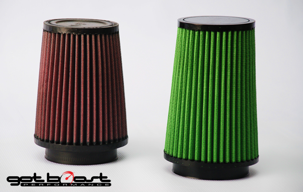 GotBoost High-Flow Green Filters for 3-inch Intake System Nissan GT-R 2009-17