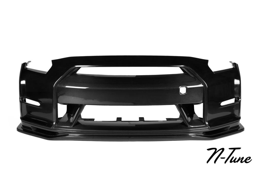 N-Tune Kit A – Front Bumper (CFIT) & Front Splitter (CF): 2009-2016 Nissan R35 GTR