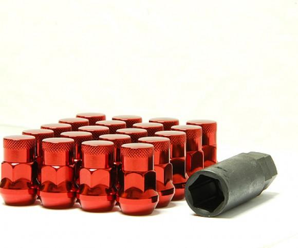 Muteki SR35 Close Ended Lug Nuts - Red -