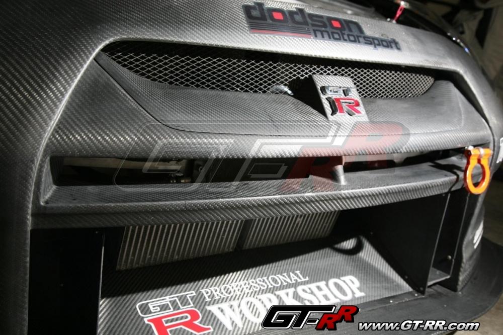 Top Racing Dry Carbon Front Bumper - Normal Width - Nissan GT-R 2009-16