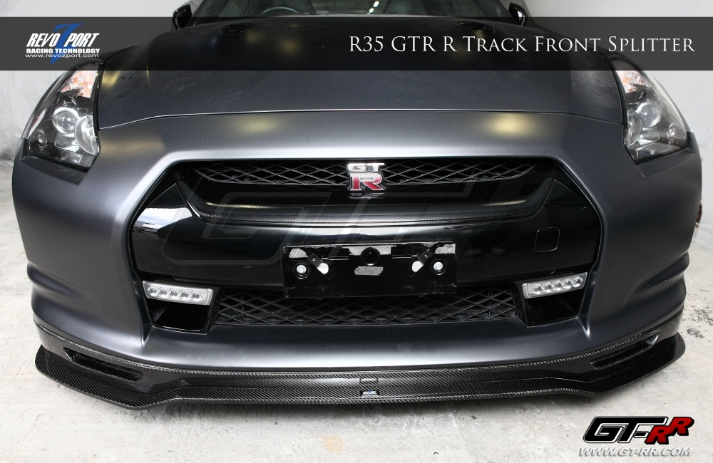 RevoZport R-Track Front Splitter with Brake Duct Kit Nissan GT-R  2008-16