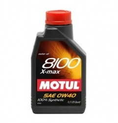 Motul 8100 0W40 X-Max Engine Oil 1 L