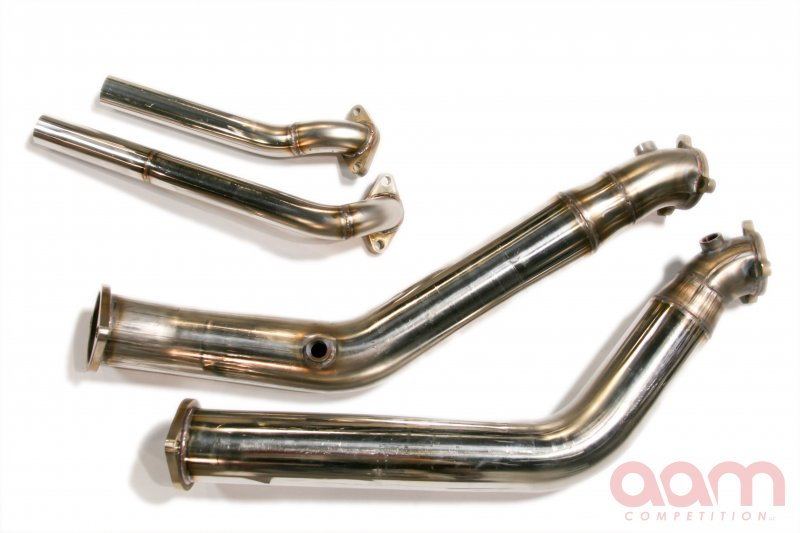AAM Competition Dual Greddy Downpipes With Open Wastegate Dumps Infiniti G35 2003-2006