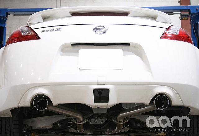 AAM Competition S-Line Axle Back Exhaust System Nissan 370Z 2009-2011