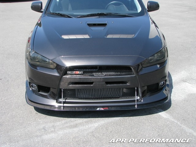 APR Front Wind Splitter for Factory Lip Mitsubishi Evolution X