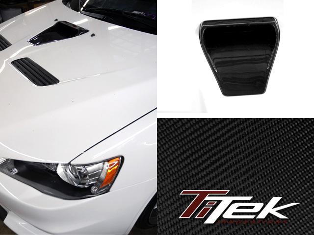 TiTek Carbon Fiber Hood Air Guide Mitsubishi Evolution X