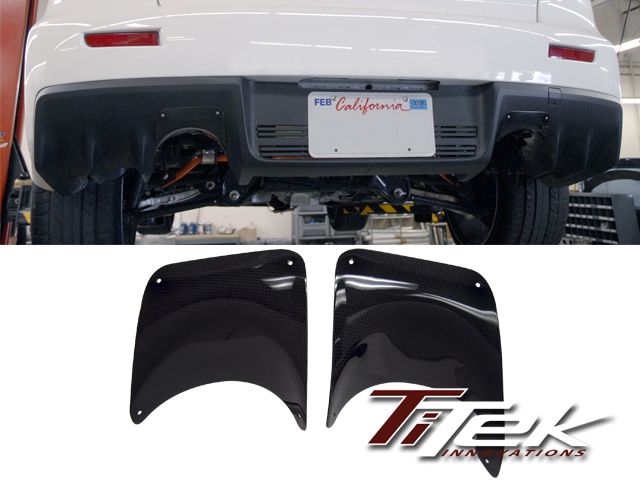 TiTek Carbon Fiber Rear Burn Shield Mitsubishi Evolution X