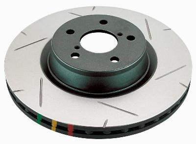 DBA 4000 Series Front Right Slotted Brake Rotor Subaru STi 2004-15