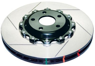 DBA 5000 Series Front Right Slotted Brake Rotor Subaru STi 2004-15