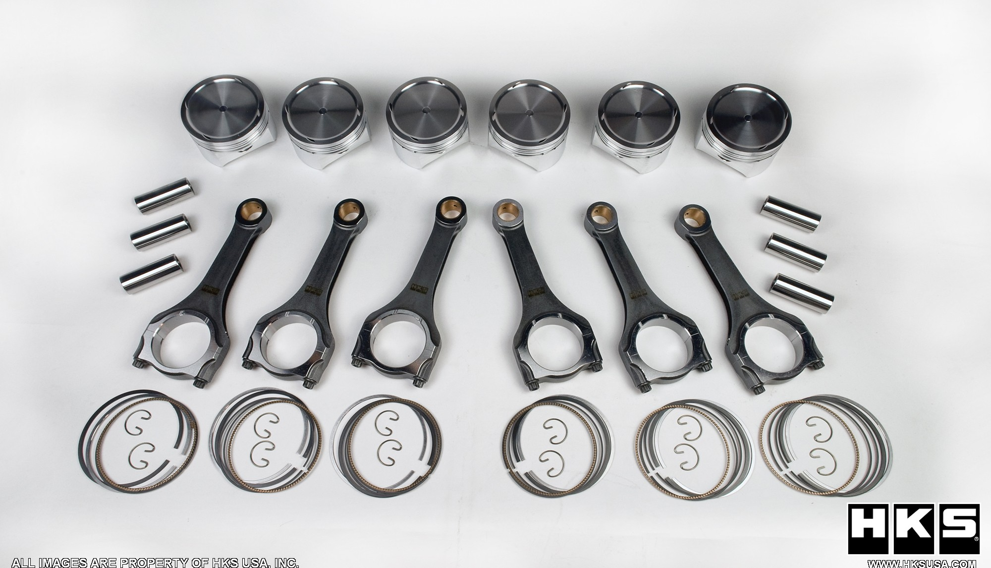 HKS Pistons & Connecting Rods 95.7mm Bore & 9.0:1CR Infiniti G35 2003-2006
