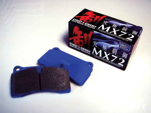 Endless MX72 Rear Brake Pads Subaru WRX 2002