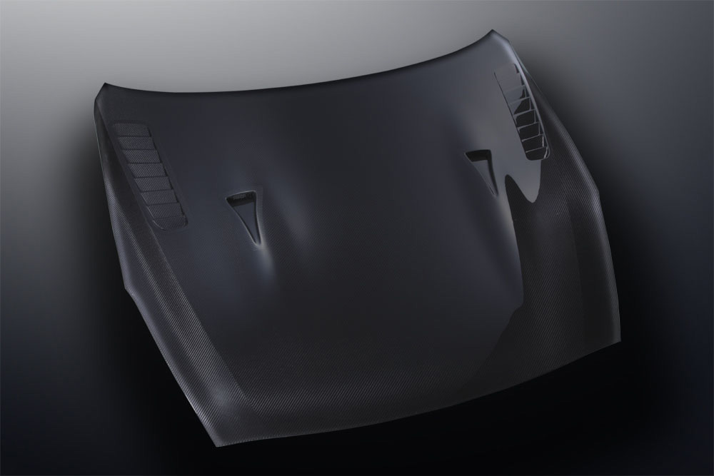 Mines Dry Carbon Fiber Hood Type II Nissan GT-R 2009-11