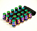 Muteki SR35 Close Ended Lug Nuts - Neon -