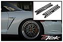 TiTek Carbon Fiber Fender Grille Inserts - Matte - Nissan GT-R 2009-16
