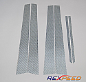 Rexpeed Carbon Fiber Pillar Trim Mitsubishi Evolution VIII & IX 2003-07