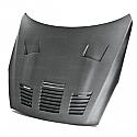 Seibon GT-style DRY CARBON hood for 2009-2016 Nissan GTR.