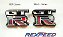 Rexpeed Black Chrome Logo Nissan GT-R 2008-17