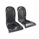 Seibon Carbon fiber rear seat panels for 2009-2010 Nissan GTR (pair)