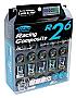 KICS R26 Neo Chrome Locking Lug Nuts