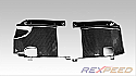 Rexpeed Carbon Fiber Intercooler Side Panels Mitsubishi Evolution X 2008-14