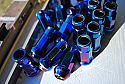Muteki SR48 Open Ended Lug Nuts - Burning Blue -