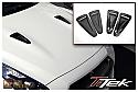 TiTek Carbon Fiber Hood Ducts - Matte - Nissan GT-R 2009-16