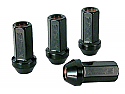 Rays 17 HEX Racing Lug Nut 12X1.25 Flat Black (4-PACK)